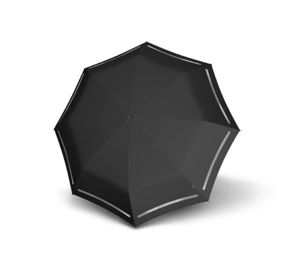 Vihmavari Knirps T200 Duomatic Reflective Black helkurprindiga