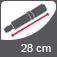 Vihmavarju pikkus suletuna 28 cm