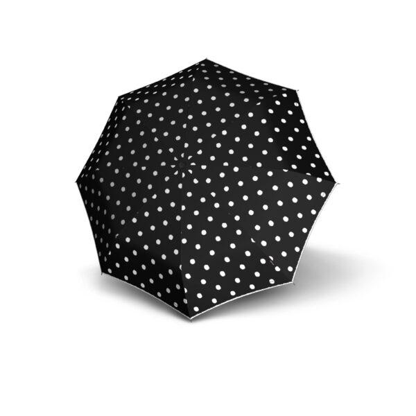 Vihmavari Knirps T200 Duomatic Dot Art Black